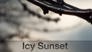 Icy Sunset by TaylorCohron