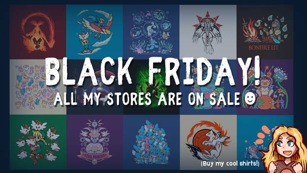 All my shirts are on sale For Black Friday by SarahRichford