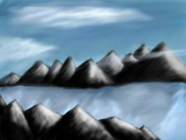 Glacial Mountains by Vengar77