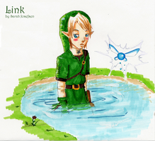 Link in the Lake by MissOne