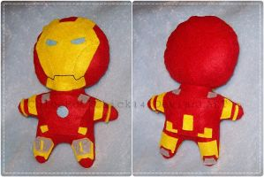 Iron Man Plushie by ChloeRockChick14