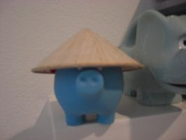 The Blue Asian Piggy by SquishyPandaPower