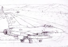 F-16C waiting for take off by Bidass
