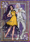 Human Luna and Artemis by Teo-Hoble