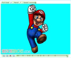 How to Draw Mario Part 3 by SketchHeroes