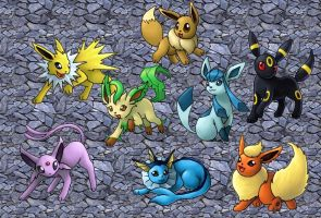 Eeveelutions by Liriane
