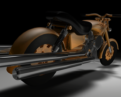 Nvidia Steampunk Motorcycle by soulphonic1