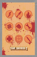 Team fortress bloody poster by Browniehooves