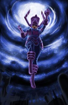 Lady Galactus Work in progress by iszyiszard