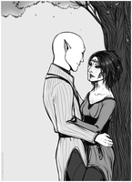 DAI: Under the Tree {Solavellan} by LadyTheirin