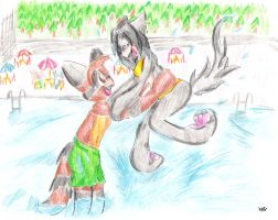 EK-Pool Fun-Colored Pencils by mewmewpower