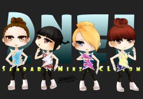 2NE1 - Can't Nobody Chibis by G-Trace