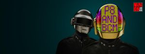 Daft punk FB Cover by maddaluther