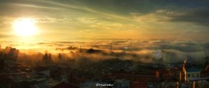Sunrise over Guatemala City by Trilusion