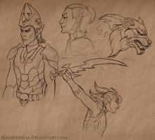 ESO Sketches IV by SlayerSyrena
