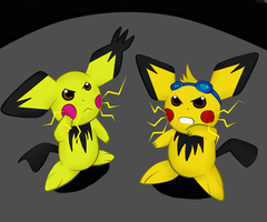 Pichu Power by SilverBlue-Neko