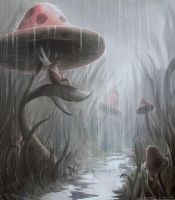 Shelter from the rain by MikeCoombsArt