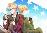 Hetalia UsUk. by Panther-fam