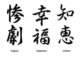 Tragedy, Happiness..Wisdom by Nuying