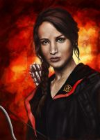 The Girl on Fire by zophie