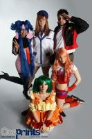 Macross Frontier Cosplay Group by CrimsonDomingo