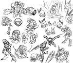 Metroid Doodle Compilation by Cryophase