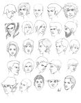 610th Head Sketches by M053AB
