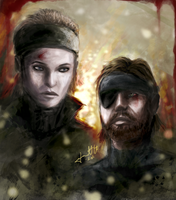 Metal Gear -Snake and The Boss by GNRforever