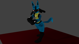 WIP 5 Lucario by PhiliChez
