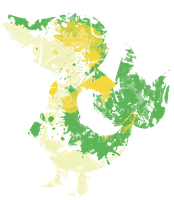 Snivy Paint Splatter Graphics by HollysHobbies