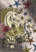 Courage of the Unicorn :color: by BloodMoonEquinox