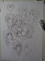 Inking kh group :p by x-Lilou-chan-x