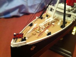 RMS Lusitania 1:350 Scale pt2 by Crystal-Eclair