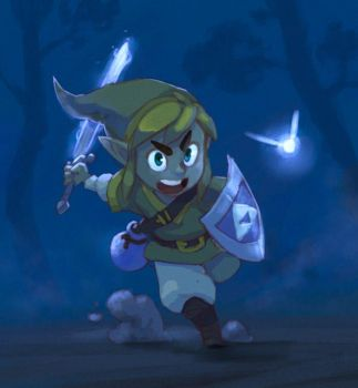 Zelda Link to the past [Cell or soft anime style] by loboborges