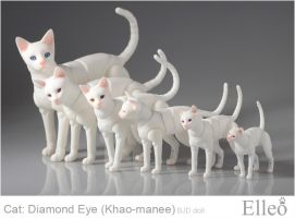 Khao-manee Cat Bjd 03 by leo3dmodels