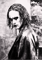 Brandon Lee - The Crow by 6DeadSpaceOfPencil9