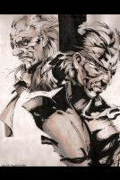 MGS4 Liquid Ocelot n Old Snake by Grayfoxdie