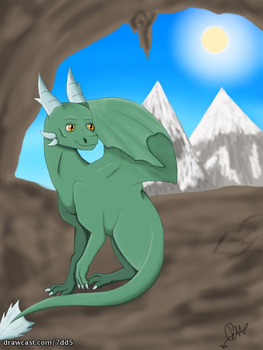 Green Dragon by WolvesLover2014