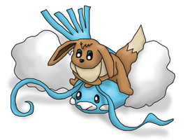 Eevee and Altaria by Cosworth40