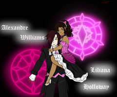 Kuroshitsuji OC's: Liliana and Alexandre by CrimsonRobin