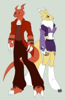 Guilmon and Renamon clothes idea by Pyrus-Leonidas