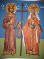 Emperor Konstantinos and Eleni by teopa