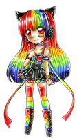 Rainbow Doll by Sakukko