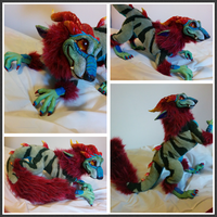 OOAK Posable Dragon Artdoll by gebrek