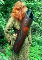 Leather quiver Elven Grove by Svetliy-Sudar