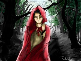 Supernatural- Red Riding Hood Castiel by Artieukchan