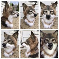 Timber wolf head by Sharpe19