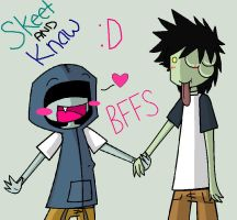 Skeet and Knaw by LoneWolf-7819