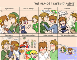 The Almost Kissing Meme (linkpit ver.) by theunspokenprophet