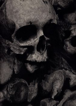 Old bones in charcoal by Pusika3